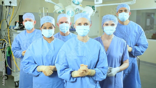 Portrait Multi Ethnic Surgical Team