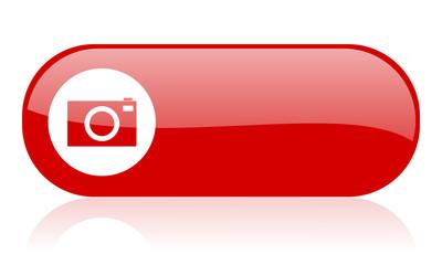 camera red web glossy icon
