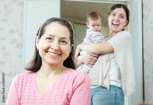 Portrait of happy grandmother
