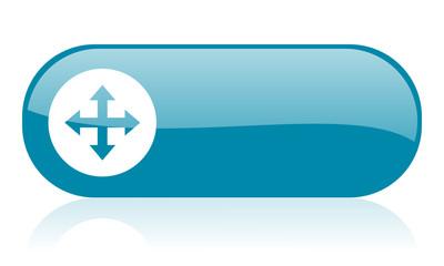 move arrow blue web glossy icon