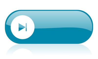 next blue web glossy icon