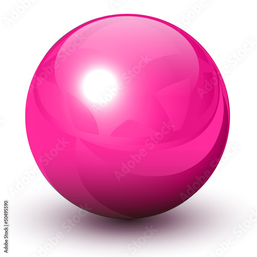 Sphere pink and glossy