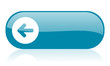 arrow left blue web glossy icon
