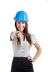 Confident female architect