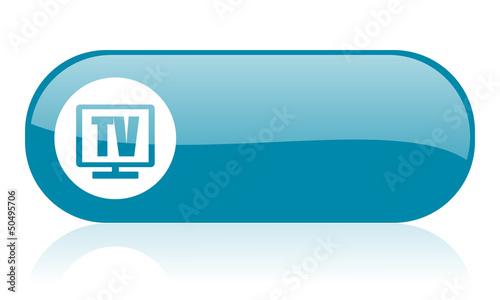 tv blue web glossy icon