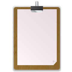Wooded Black Clipboard