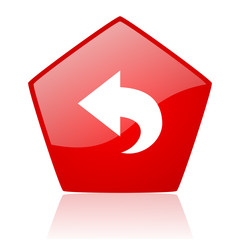 back red web glossy icon