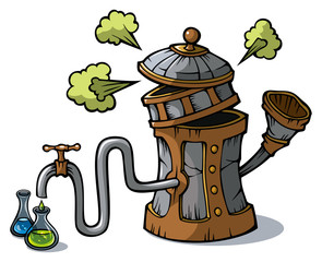 Distillation machine, vector illustration