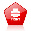 print red web glossy icon