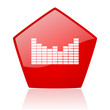 sound red web glossy icon