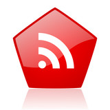 rss red web glossy icon