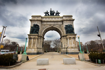 Historic Beaux-Arts arch in Brooklyn's Grand Army Plaza