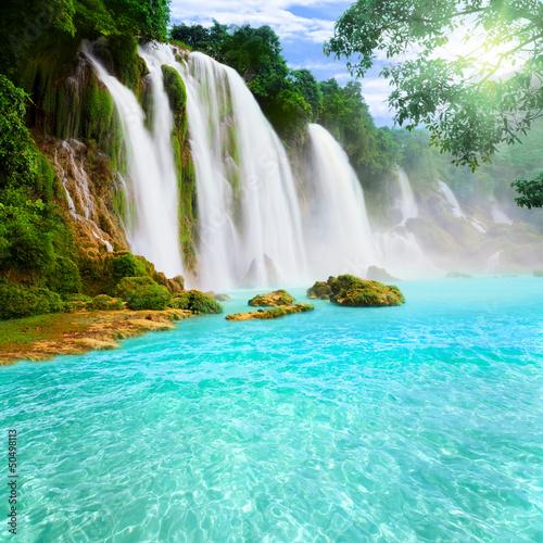 Poster Detian waterfall