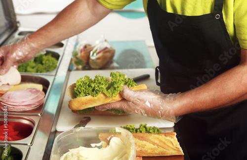 Leinwanddruck Bild Sandwich Bar
