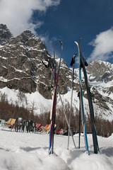 Sport invernali sulla neve: sci