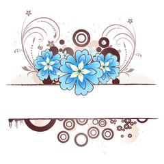 Beige floral border
