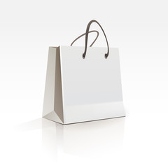 Empty Shopping Bag on White Background