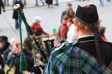 Schotte mit Dudelsack - Scottish bag piper