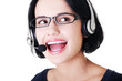 Attractive customer support representative