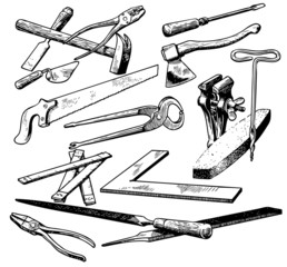 Many different tools