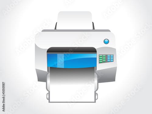 abstract glossy printer