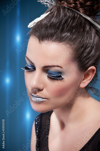 Luxurious Silver Makeup