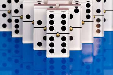 Dominoes on Blue