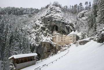 Predjama castle in the winter, Slovenia