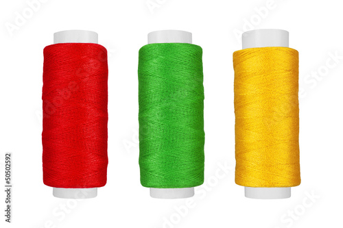 Three bobbin thread