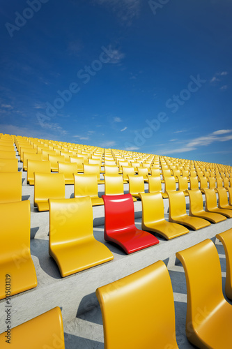 3d stadium chairs concept