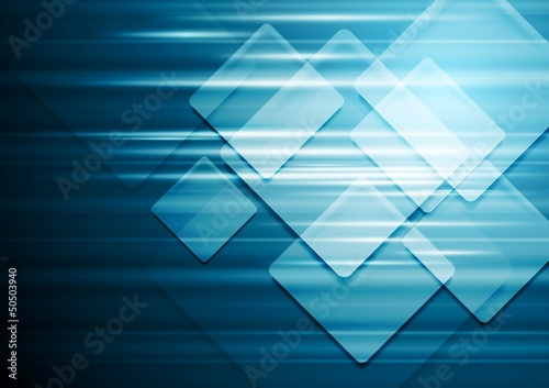 Technical blue vector background