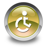 "Yellow Glossy Pictogram ""Wheelchair Accessible"""
