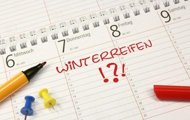 Kalender Winterreifen