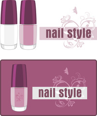 Nail style. Two banners for design