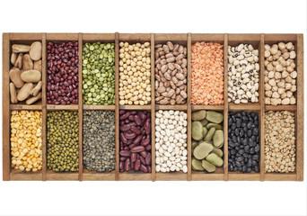 set of 16 legume samples