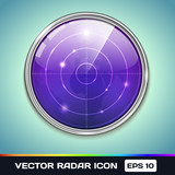 Radar Icon. Vector Illustration of radar Screen