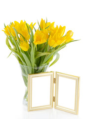 yellow Tulips with photo frame