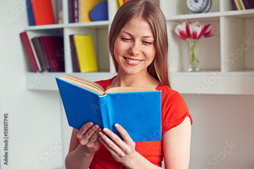pretty woman reading the book