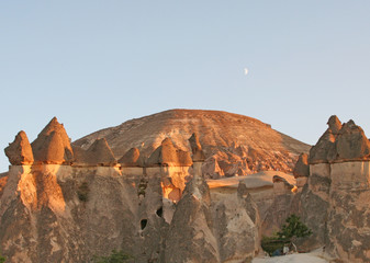 Fairy Chimneys of Cappadocia and The Moon