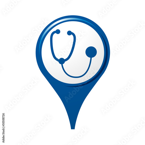 icône, symbole, logo, médecin