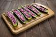 Filled zucchini
