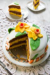 Decorated layer cake