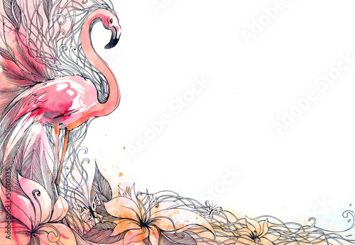 flamingo © okalinichenko
