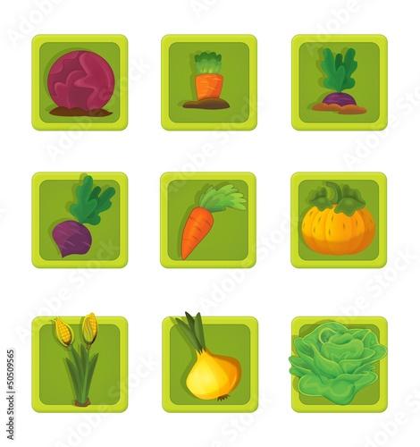 The illustration of farm element - animals