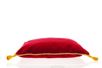Royal red velvet pillow