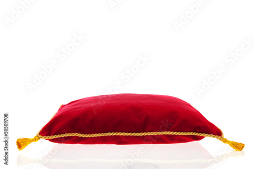 Royal red velvet pillow