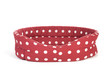 Red spotted pet bed