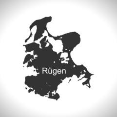 Landkarte - Insel Rügen (II)