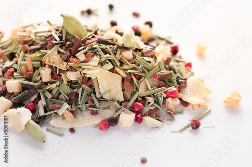Dry herbs and spice for tea