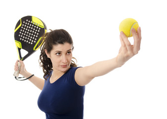 Female paddle tennis.